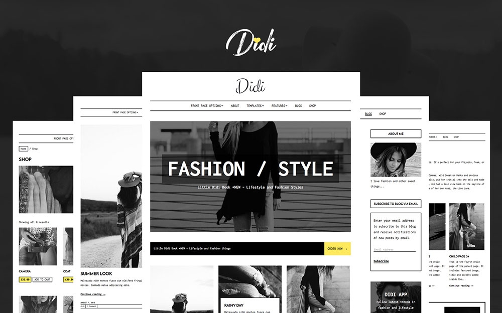 Didi - Fashion WordPress Theme WordPress Theme