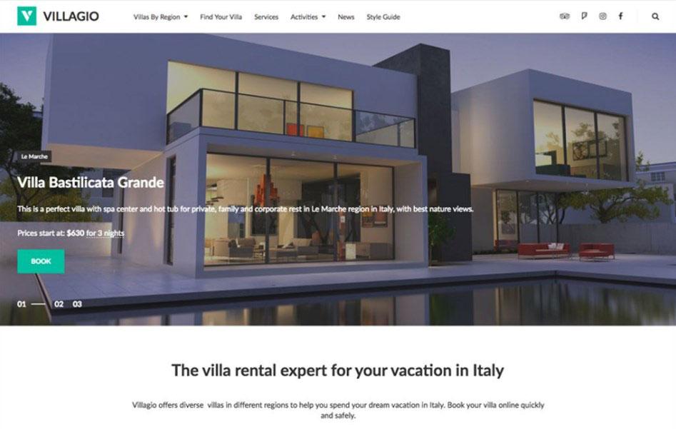 Villagio - Property Booking Services WordPress Theme