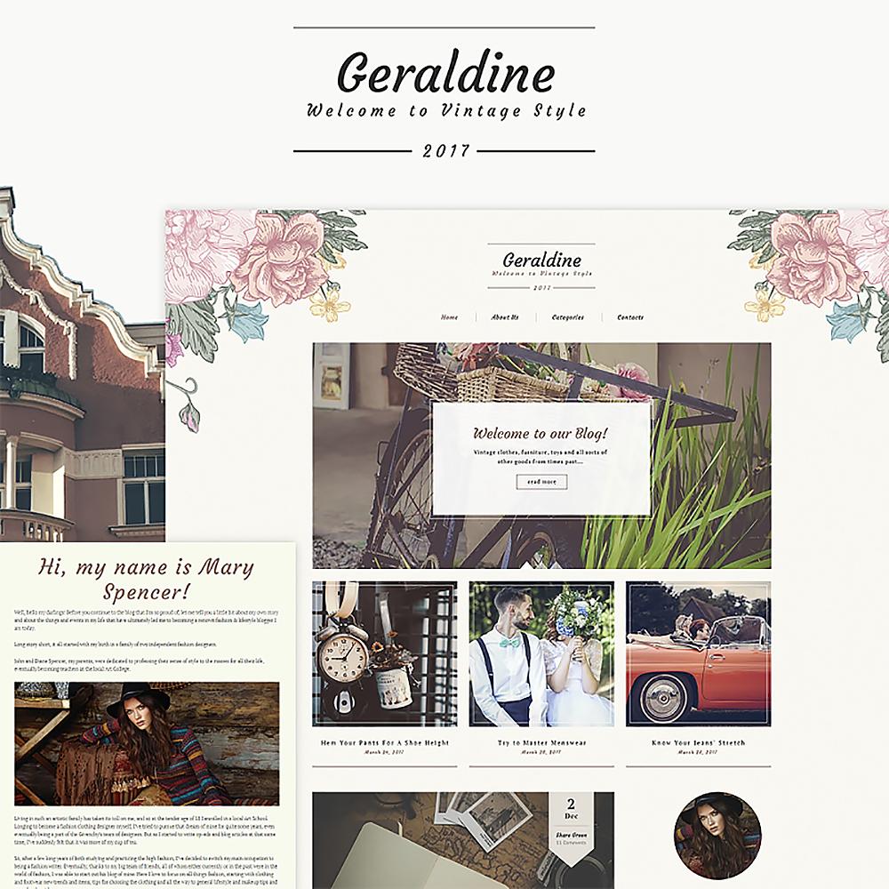 Vintage Fashion Blog WordPress Theme