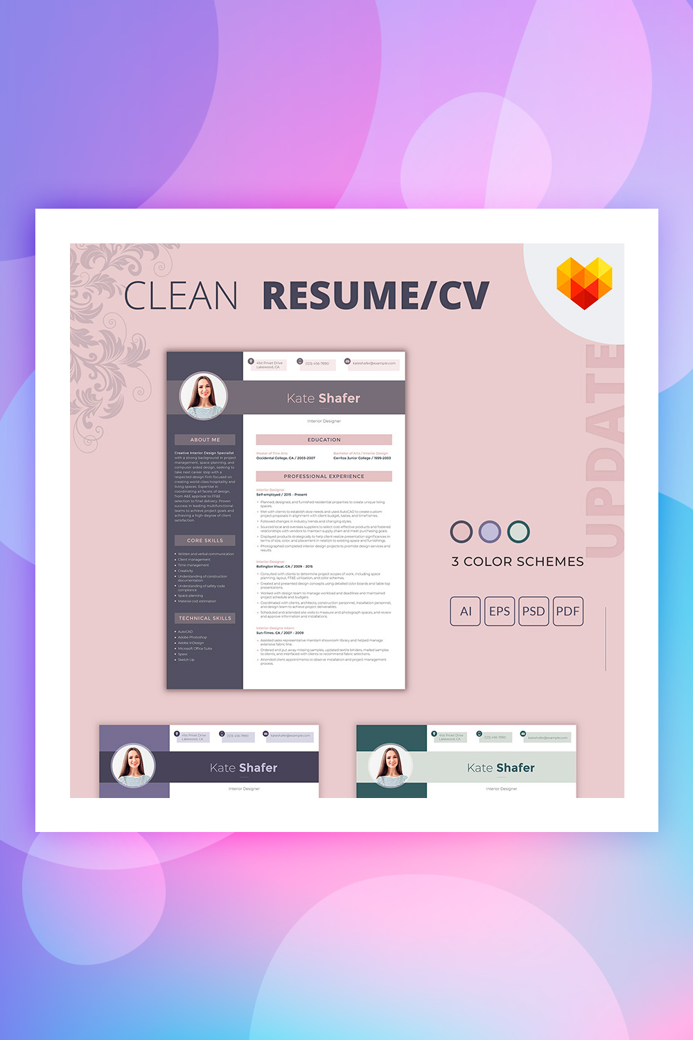 19 Best Resume Templates For Your Professional Resume Colorlib