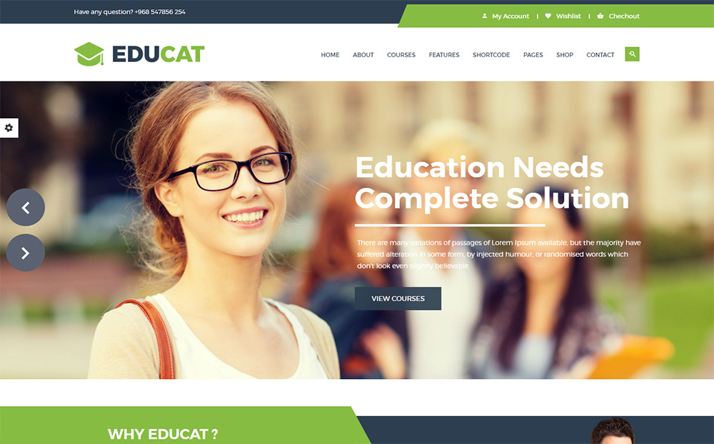 Educat - Education Website Template