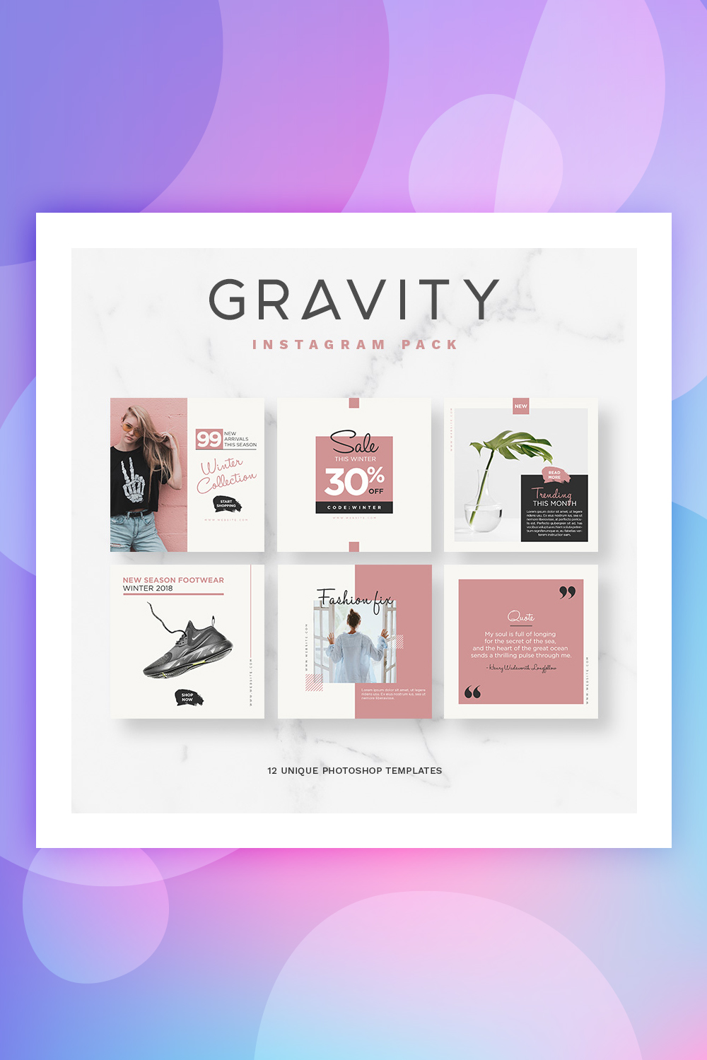 Gravity Instagram Pack Social Media