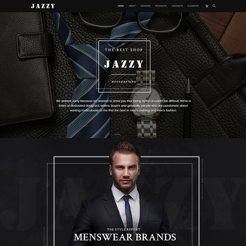 Jazzy - Men's Accessories Shop WooCommerce Theme