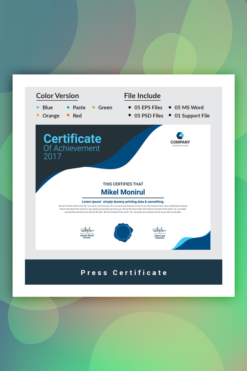 Press Certificate Template