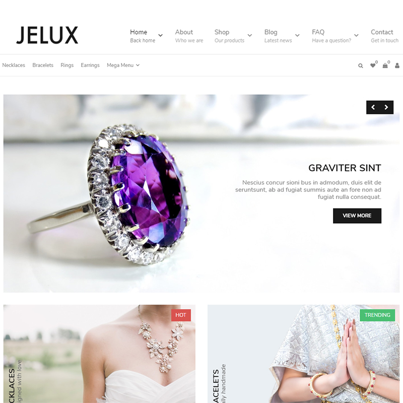 Jelux - Jewelry & Accessories WooCommerce Theme