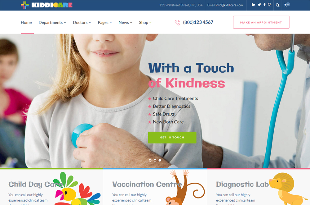 KiddiCare - Pediatric Clinic WordPress Theme