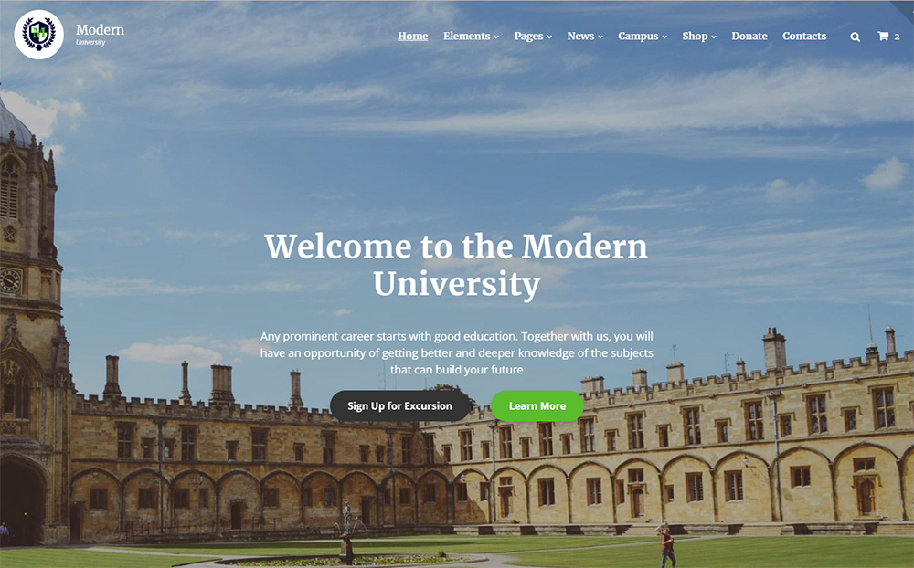 Multipage University HTML Template