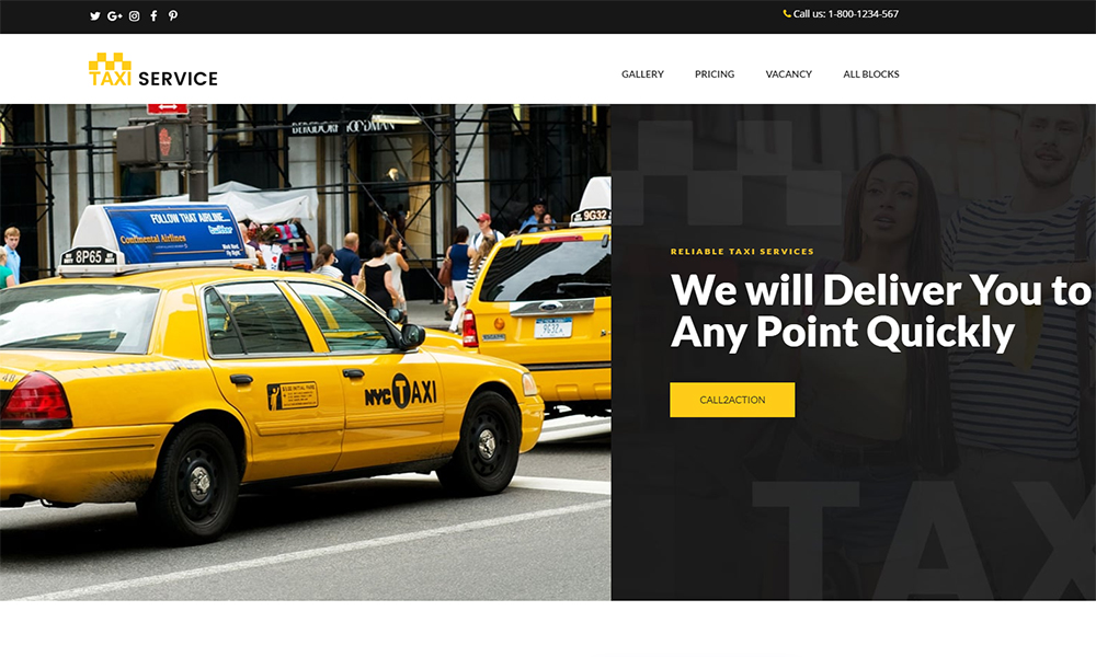 Taxi and Cab Booking Landing Page Template