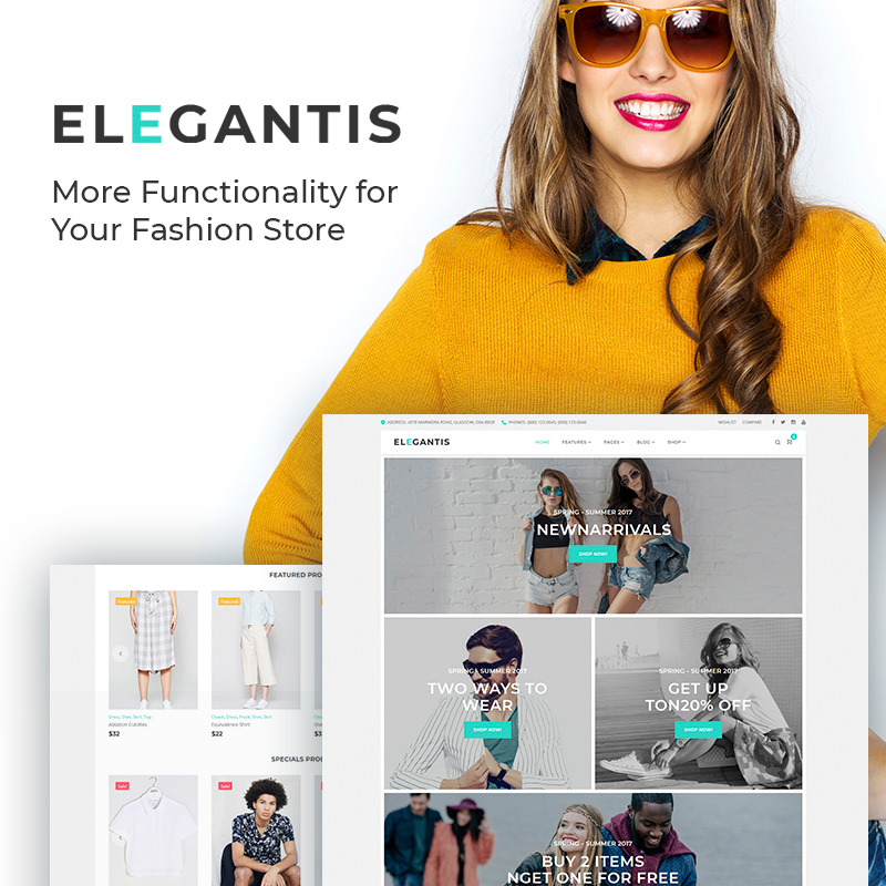Elegantis - Fashion Store WooCommerce Theme