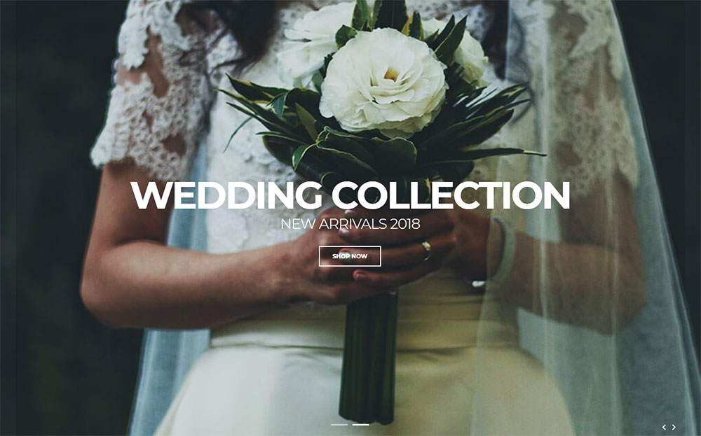 Dress Shop - Sophisticated Wedding Dress Online Shop Shopify Theme