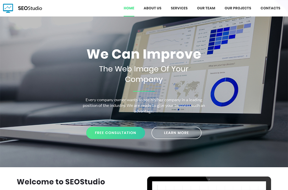 Landing Page Template with Novi Builder