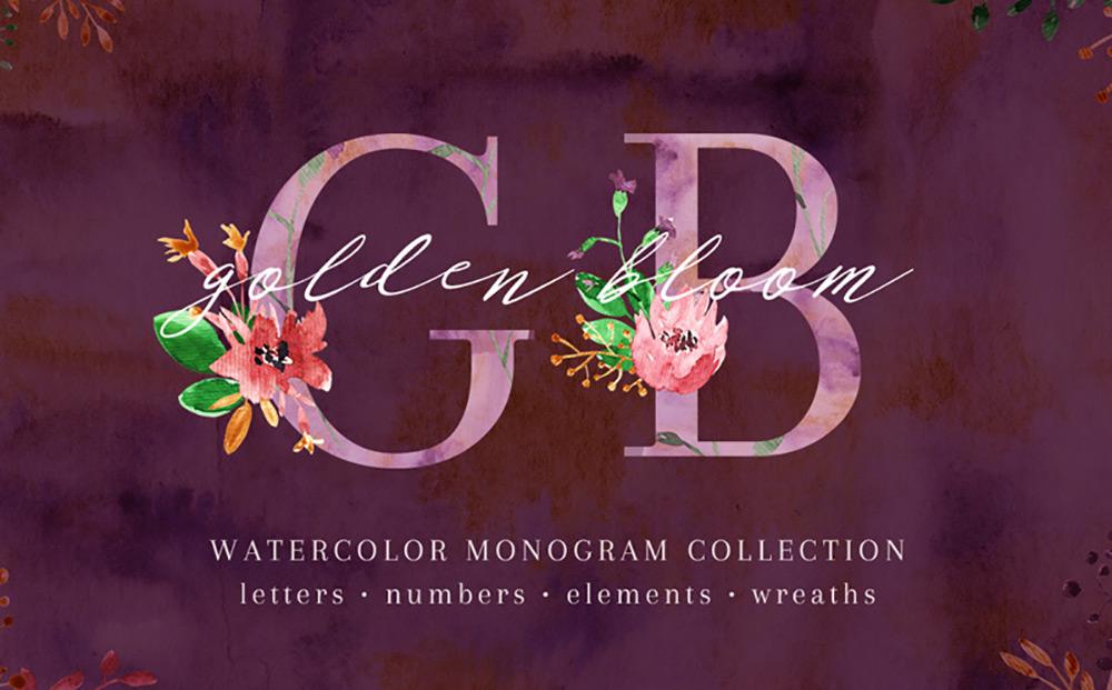Golden Bloom - Monogram Set Bundle