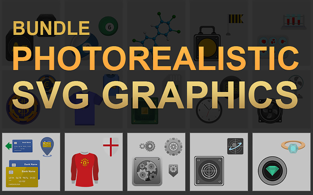 Photorealistic SVG Graphics Bundle