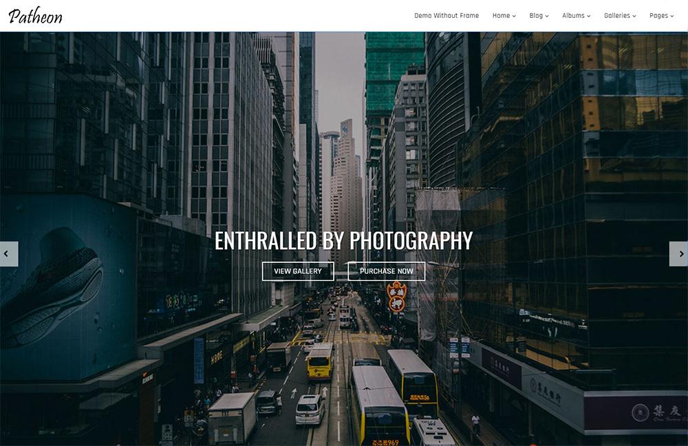 Patheon - Bootstrap Photography WordPress Theme