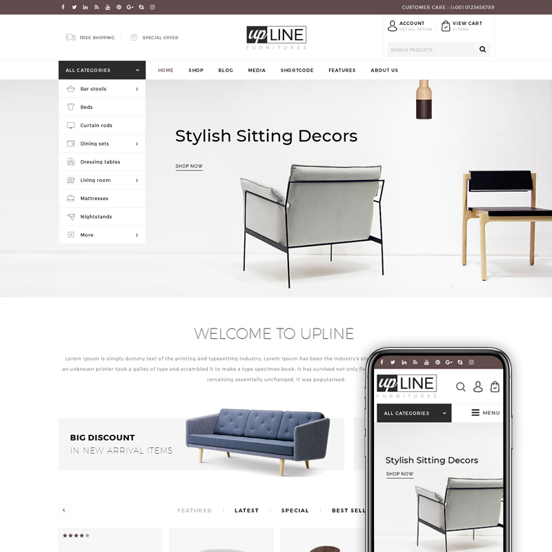 UpLine - Furniture Online Store WooCommerce Theme