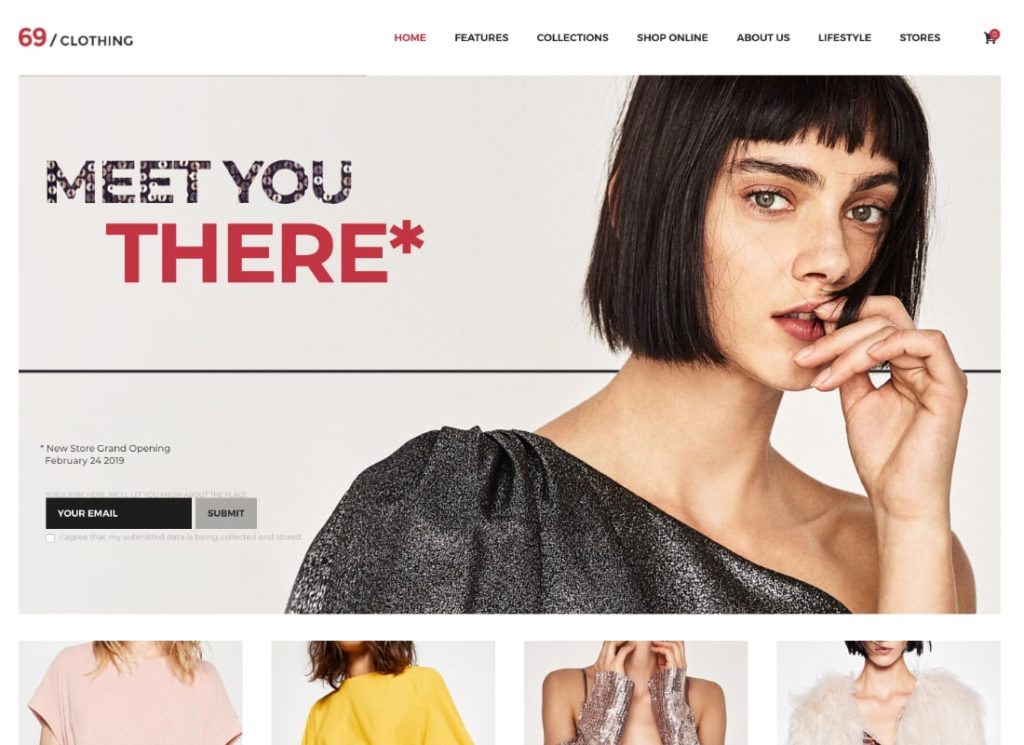 69 Clothing   Brand Store & Fashion Boutique WordPress Theme
