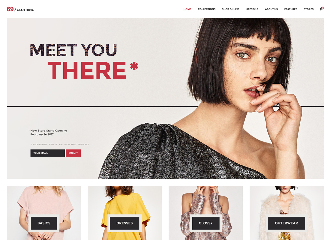 69 Clothing - Brand Store & Fashion Boutique WordPress Theme