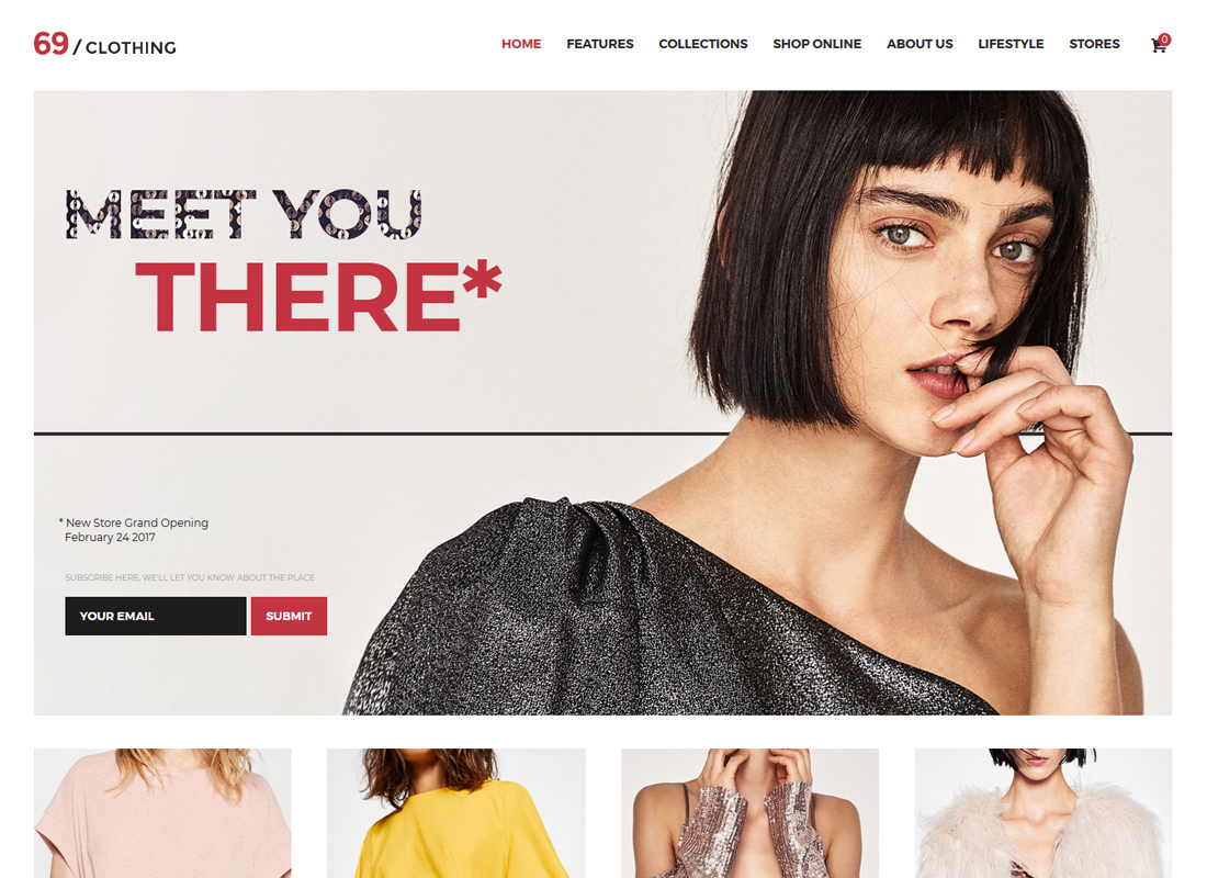 69 Clothing | Brand Store & Fashion Boutique WordPress Theme