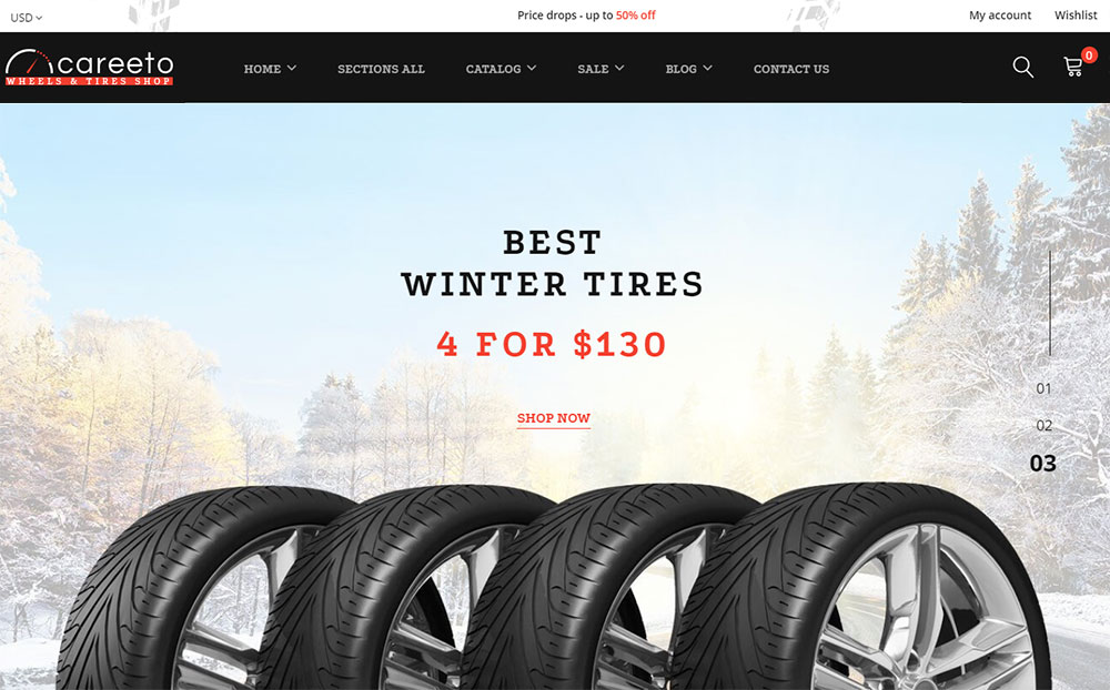 Careeto - Fancy Car Parts Online Store Shopify Theme