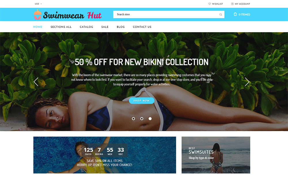 Swimwear Hut - Swimwear Store Shopify Theme