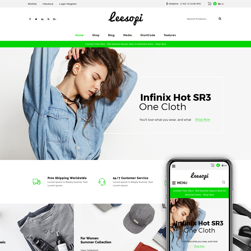 Leesopi Multipurpose Store WooCommerce Theme