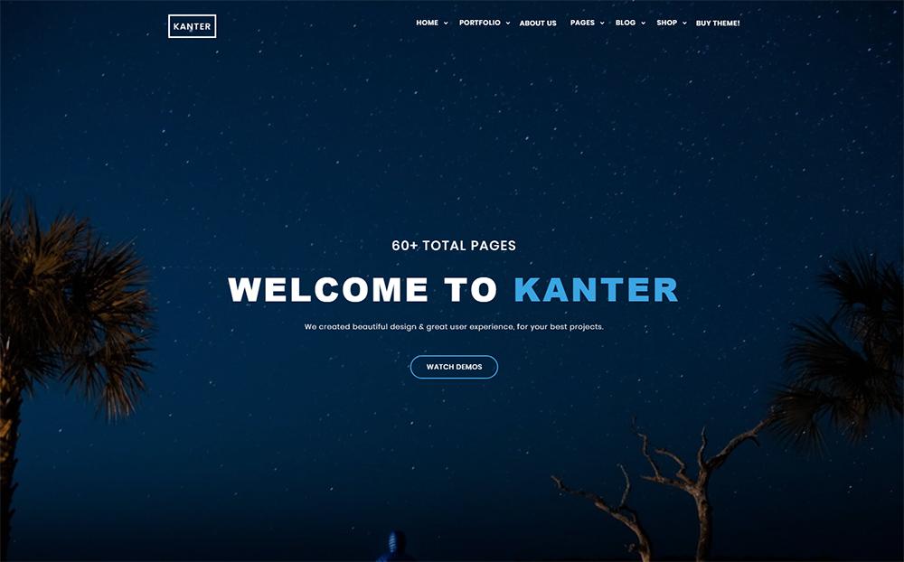 Kanter - Corporate&Portfolio&Agency WordPress Theme