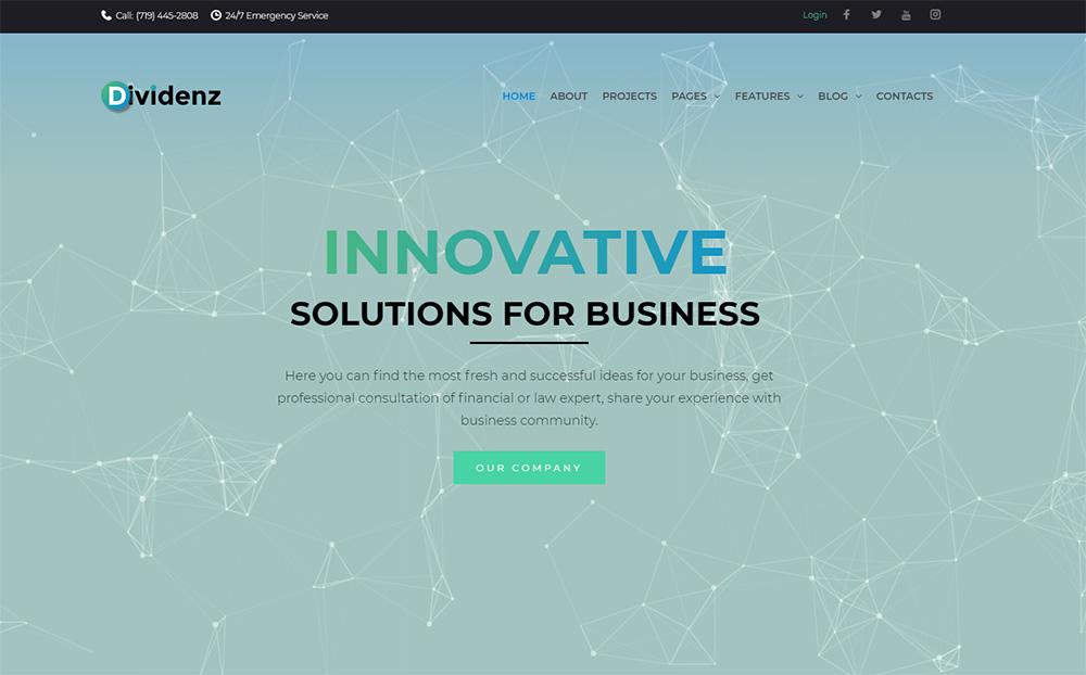 Dividenz - Investment Company Elementor WordPress Theme
