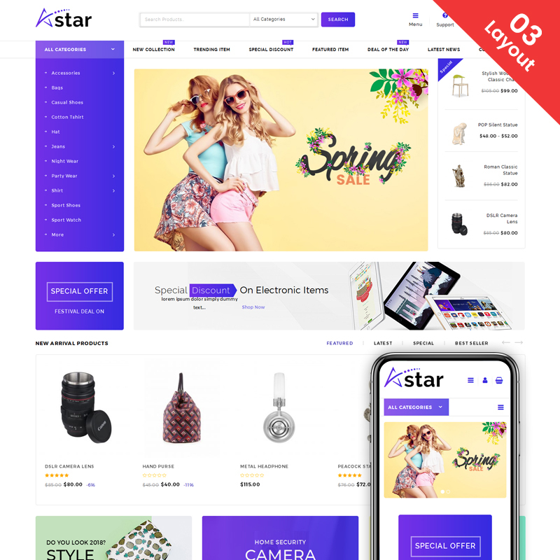 A-Star - Multi Purpose Store WooCommerce Theme