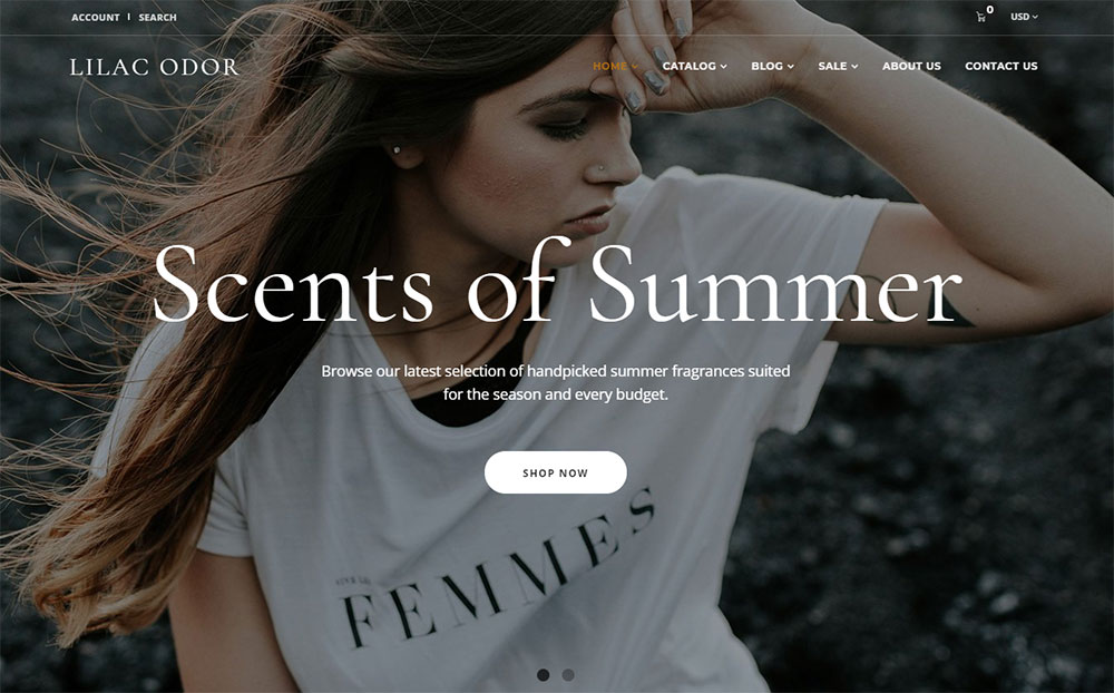 Lilac Odor - Perfume Shop Shopify Theme