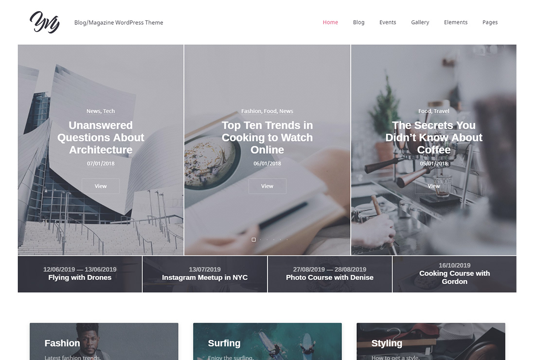 Yvy accessible WordPress theme