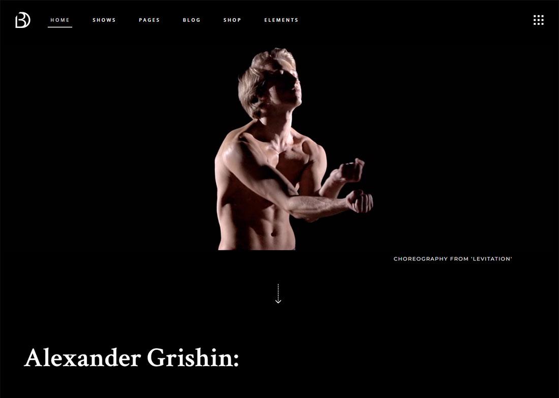 Bard Actor Website Template