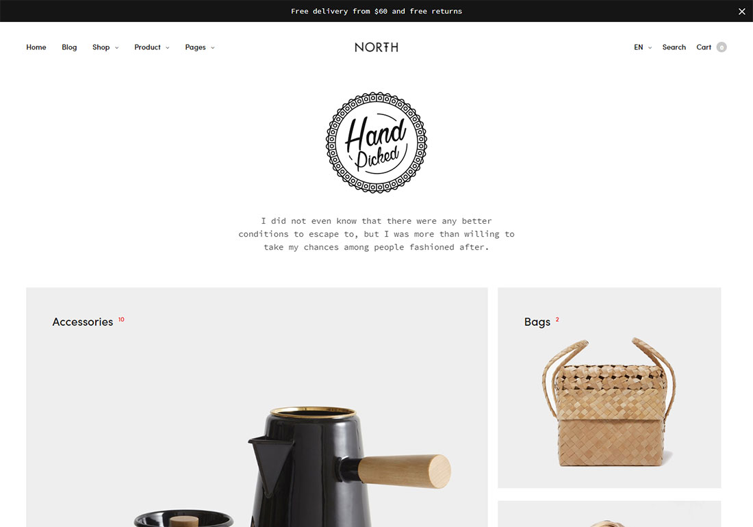 north ajax woocommerce theme