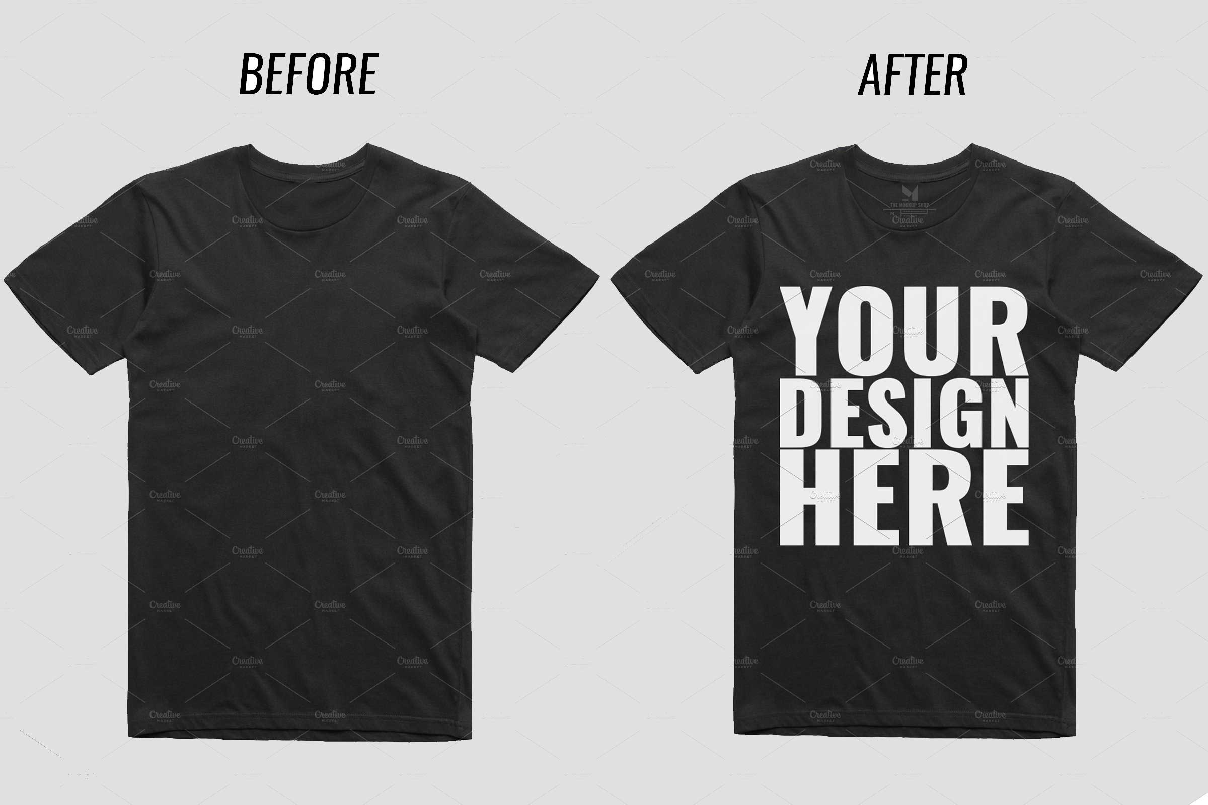 5185a684e44df0 30 Awesome Black T-shirt Mockups For Your Apparel Business - Colorlib