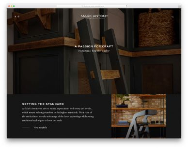 Carpentry Website Designs