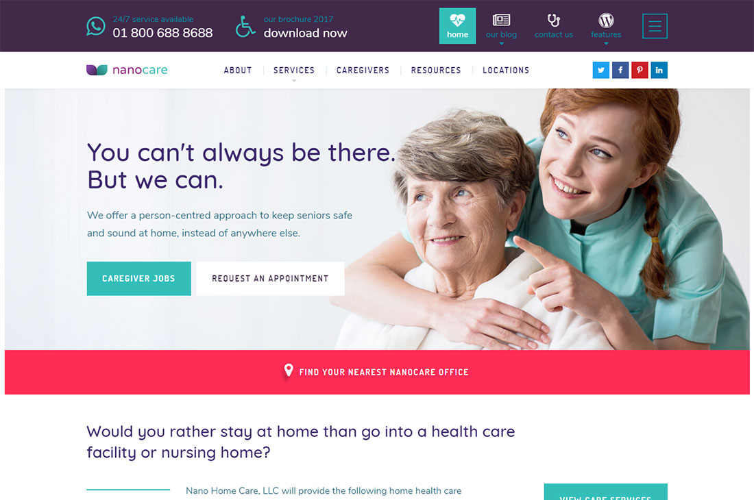 nanocare elderly care wordpress themes