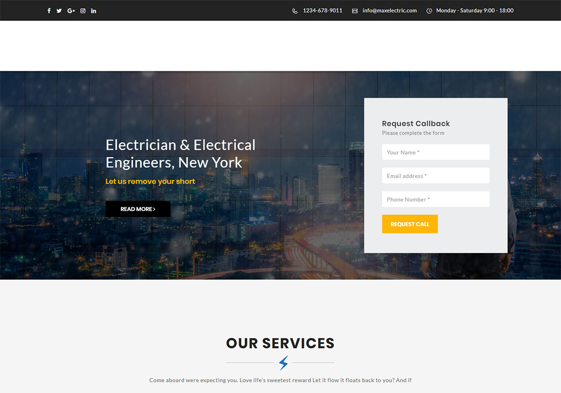 Max Electric - HTML
