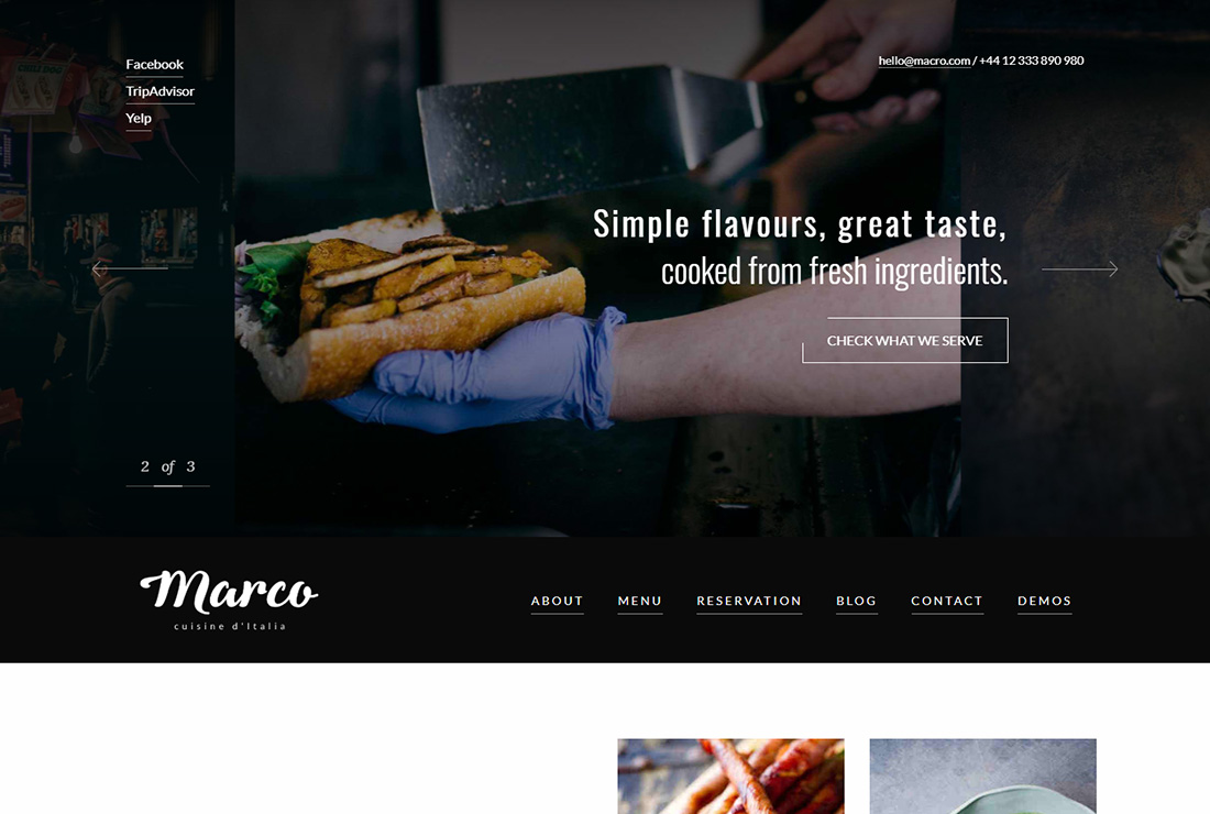 Marco Food Truck WordPress Theme