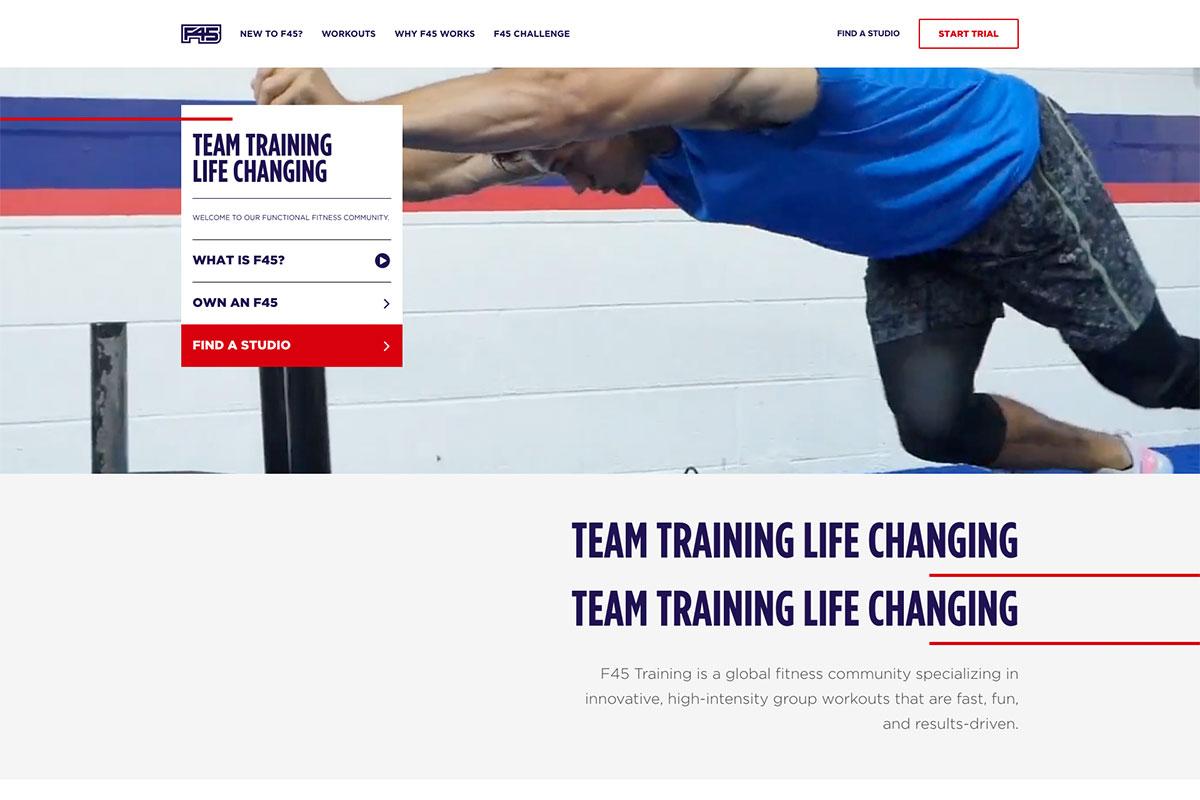 F45Training gym website
