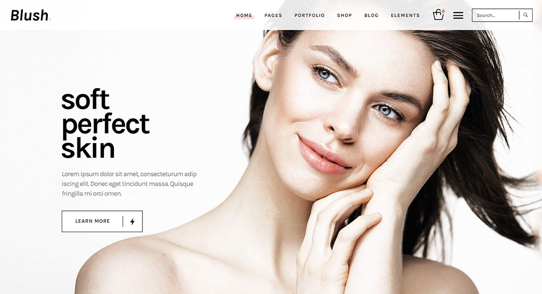 blush makeup artist wordpress theme