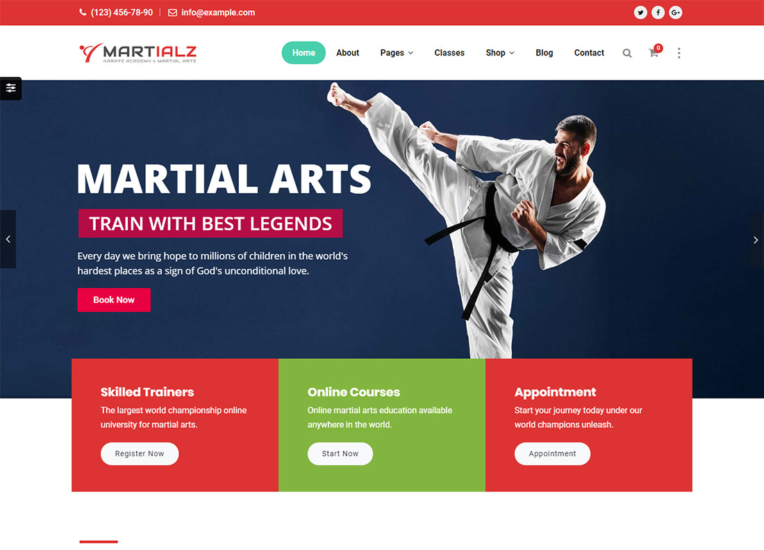 Martialz Martial Arts WordPress Theme