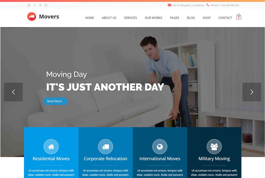 Movers Pest Control WordPress Theme