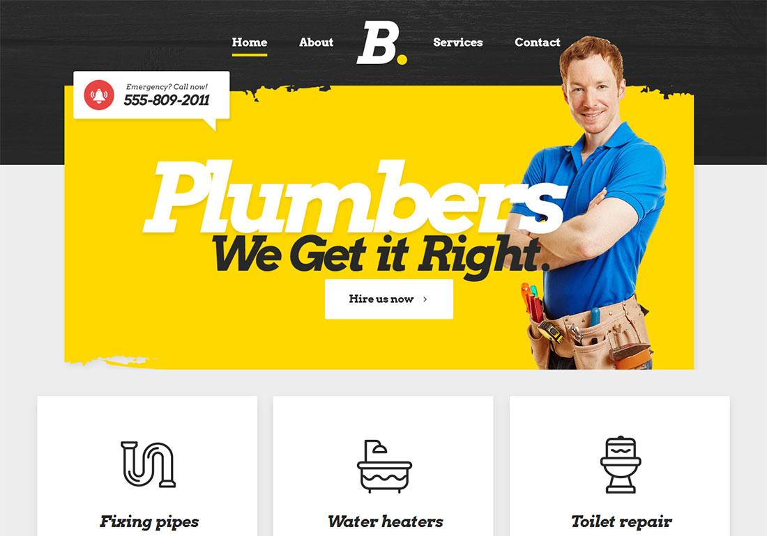 Bridge Plumber WordPress Theme