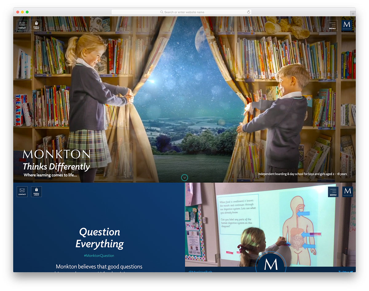 Monkton kindergarten website design