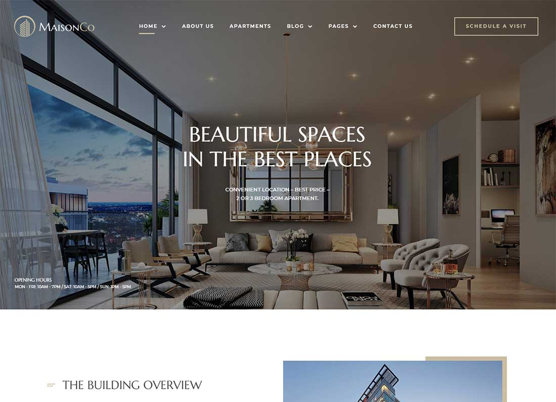 MaisonCo - Property rental WordPress theme