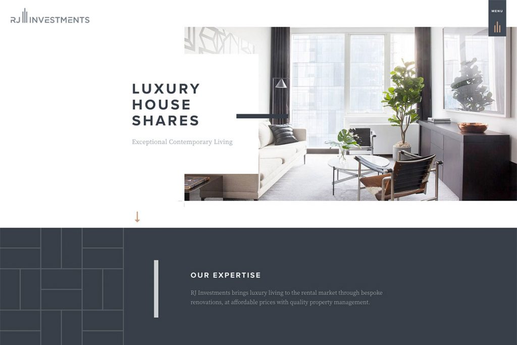 RJ Investments website design