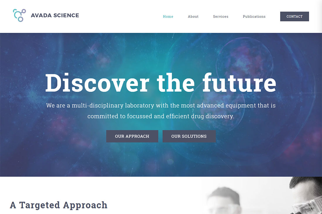 avada science wordpress theme