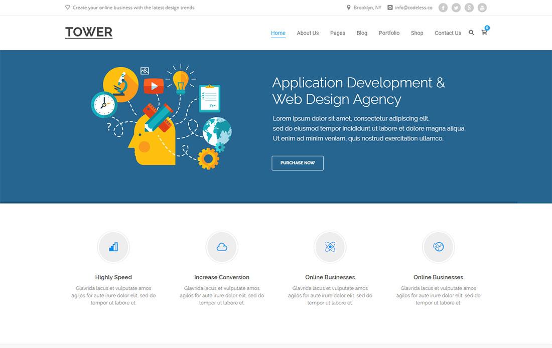 Tower seo agency WordPress theme