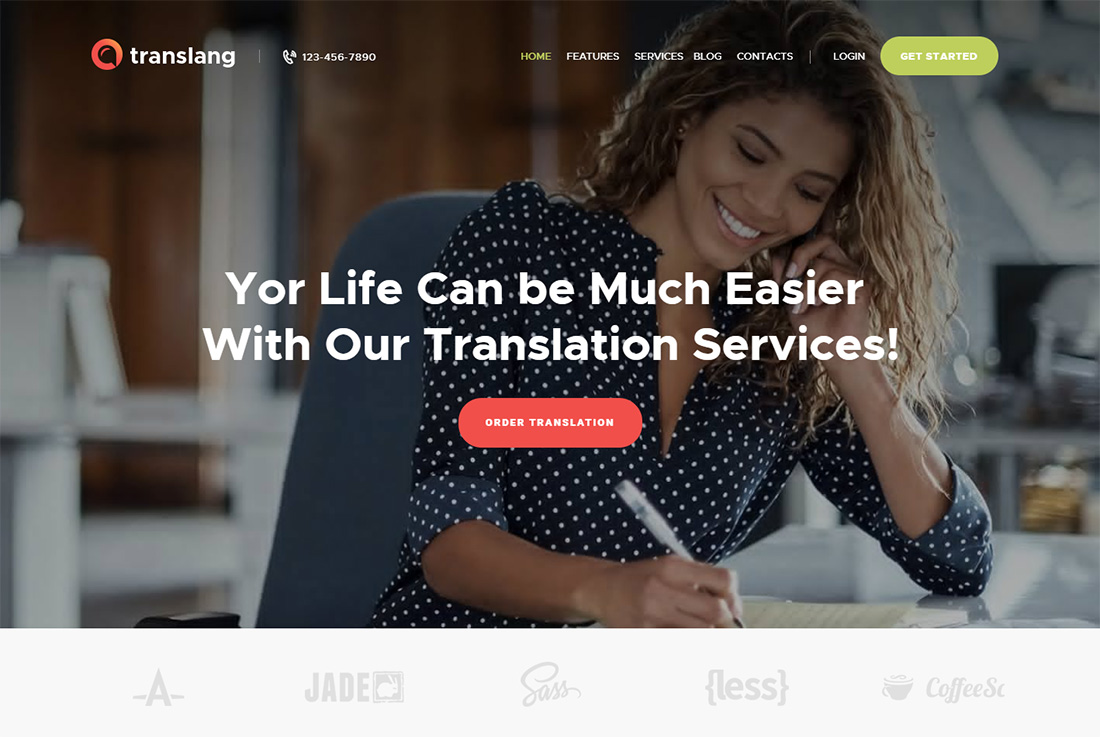 Translang Virtual Assistant Website Templates
