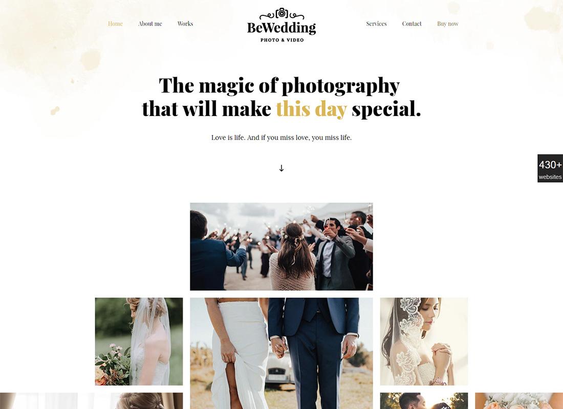 18 Best Wedding Photography WordPress Themes 2019 - Colorlib
