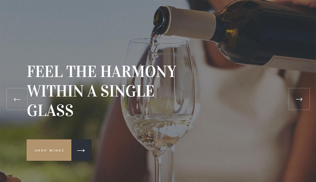 jardi wine shop WordPress theme